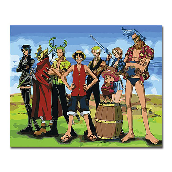 One Piece Characters - DIY Painting by Numbers Kit