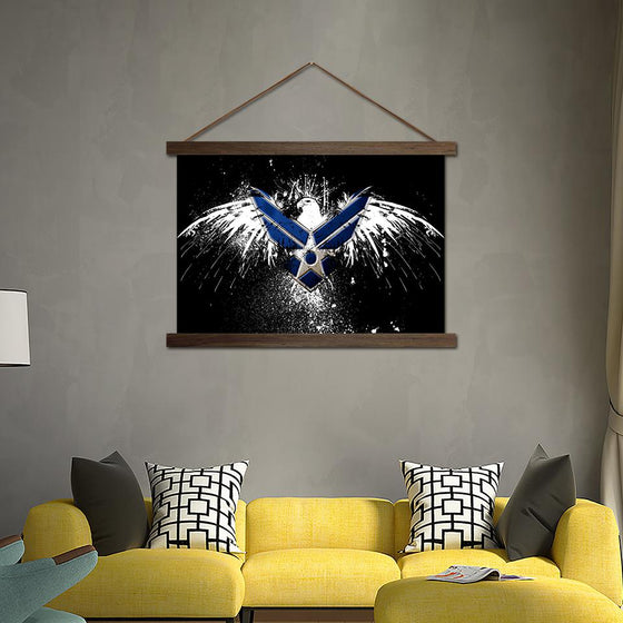 Air Eagle - Canvas Scroll Wall Art Living Room