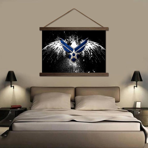 Air Eagle - Canvas Scroll Wall Art Bedroom