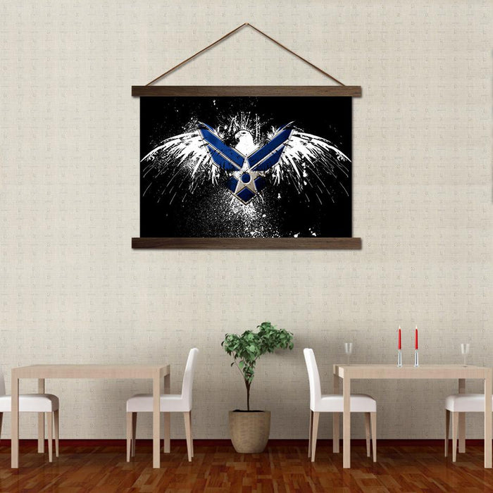 Air Eagle - Canvas Scroll Wall Art