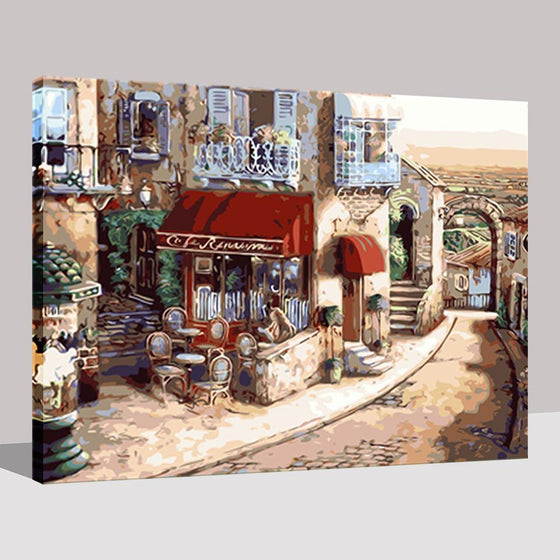 Small Town In Europe - DIY Painting by Numbers Kit