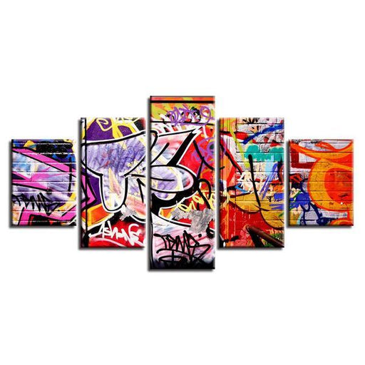 Abstract Graffiti Wall Art Decor