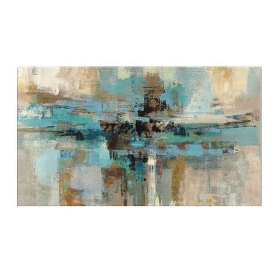 Abstract Hand Painted Canvas Wall Decoration