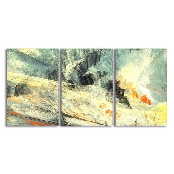 Abstract Mix Colors 3 Panels Canvas Wall Art