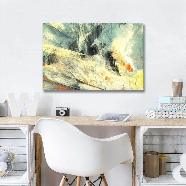 Abstract Mix Colors Canvas Art