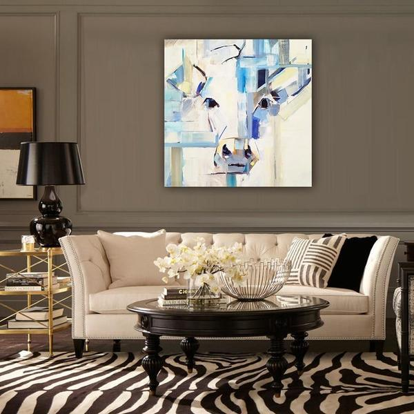 Abstract Pig Head Canvas Wall Art Decor