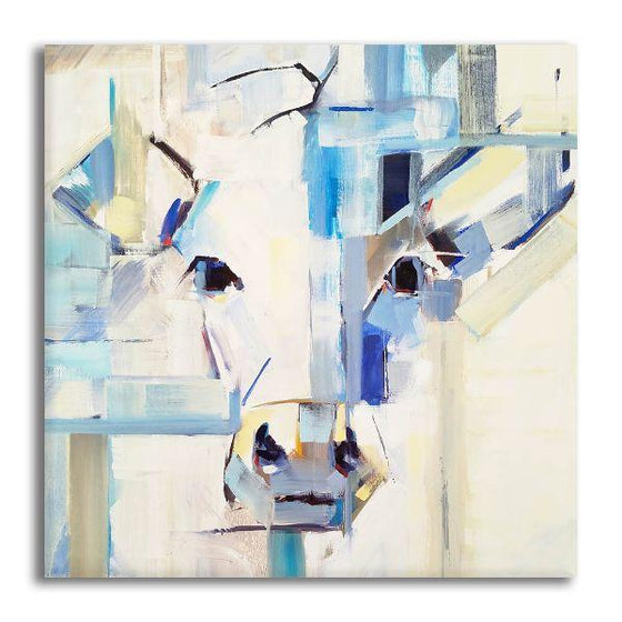 Abstract Pig Head Canvas Wall Art
