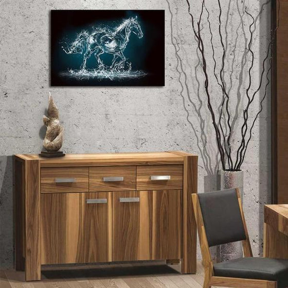 Abstract Wild Horse Canvas Wall Art Bedroom