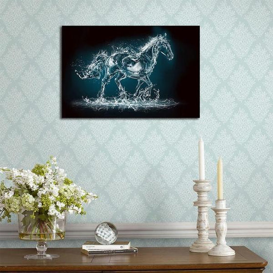 Abstract Wild Horse Canvas Wall Art Decor