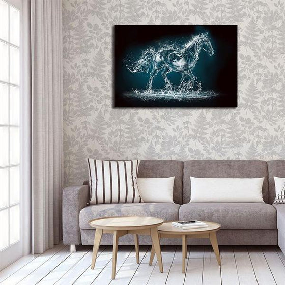 Abstract Wild Horse Canvas Wall Art Print