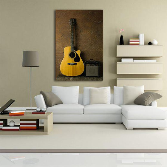 Acoustic Guitar Canvas Wall Art Living Area