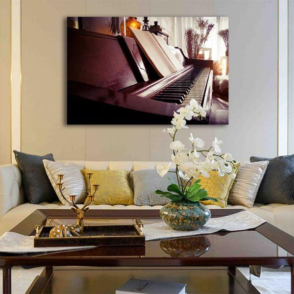 Acoustic Piano Canvas Wall Art Living Room