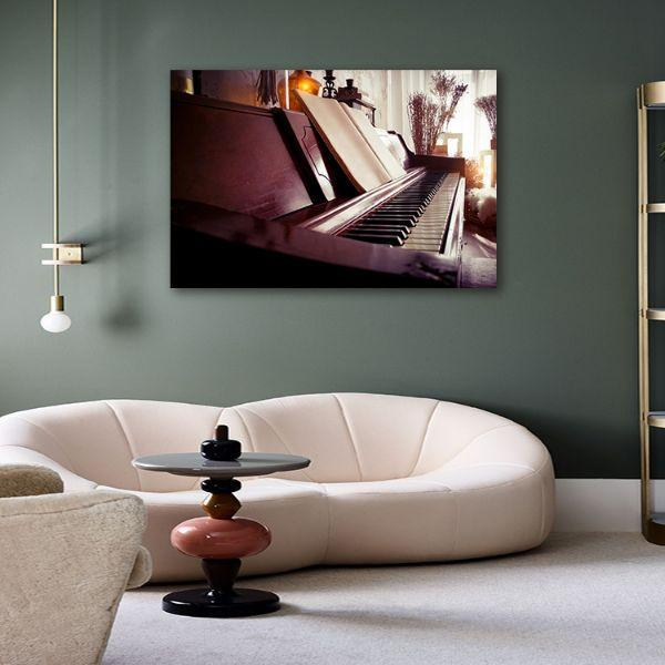 Acoustic Piano Canvas Wall Art Office