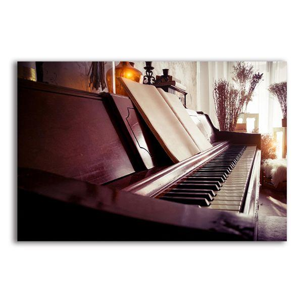 Acoustic Piano Canvas Wall Art