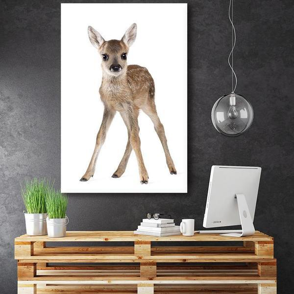 Adorable Doe Canvas Wall Art Bedroom