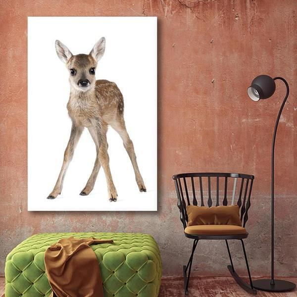Adorable Doe Canvas Wall Art Living Room