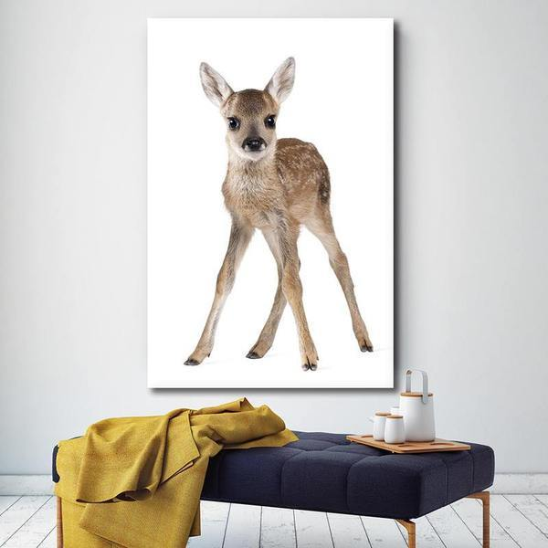 Adorable Doe Canvas Wall Art Print