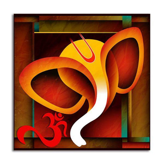 Alampata Ganesha Canvas Wall Art