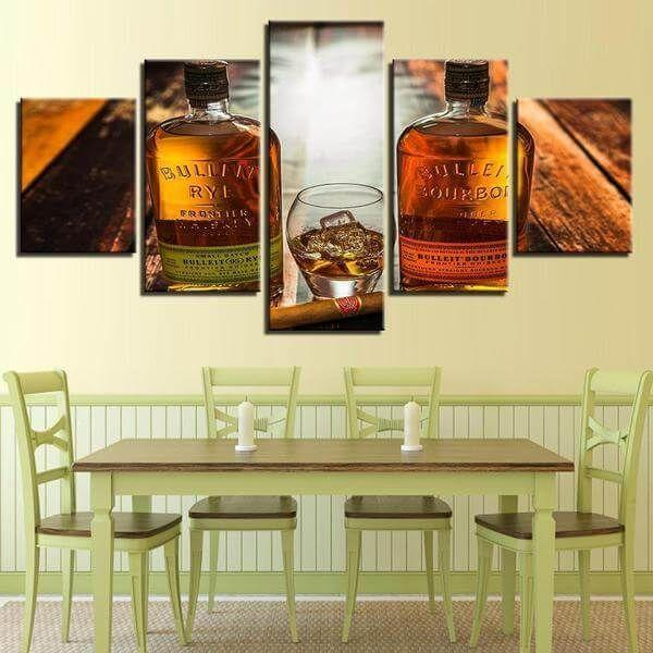 Strong Liquor Bottles Canvas Wall Art — canvasx.net