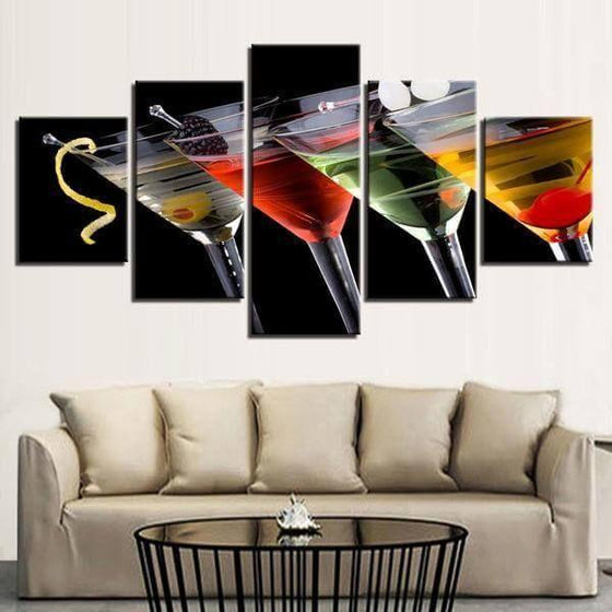 Cocktails D'alcool Canvas Wall Art Living Room