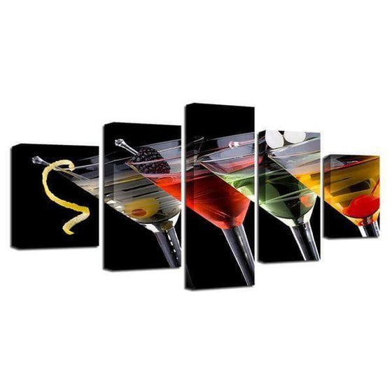 Cocktails D'alcool Canvas Wall Art Decor