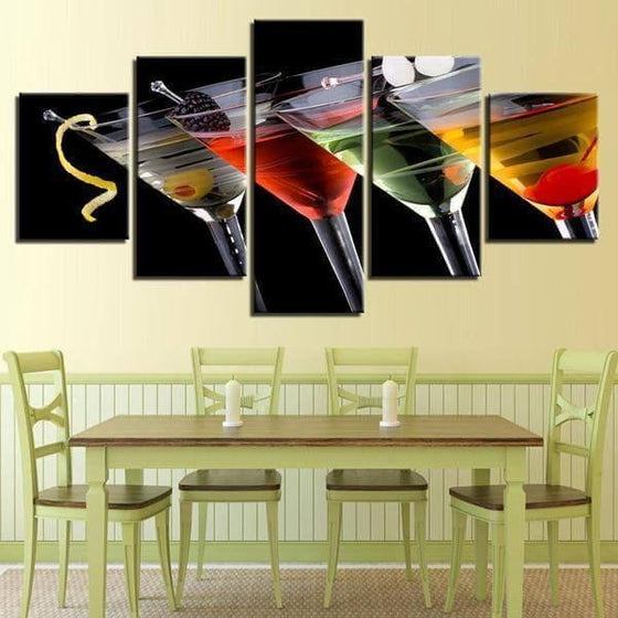Cocktails D'alcool Canvas Wall Art Dining Room