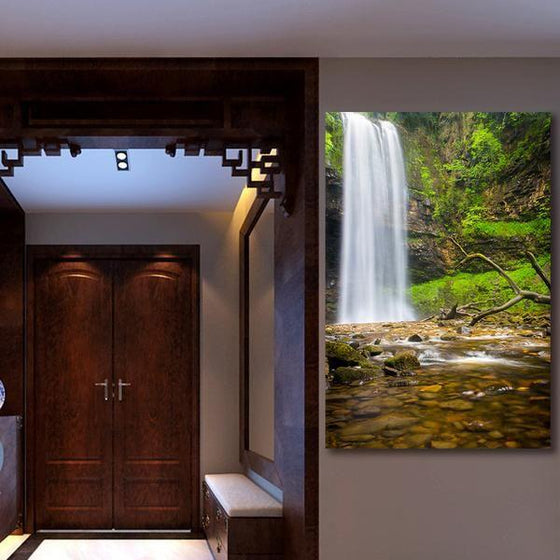 Alluring Clean Waterfalls Wall Art Decor