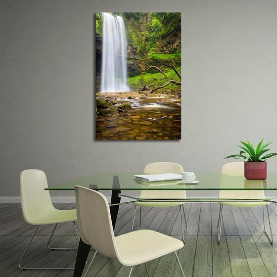 Alluring Clean Waterfalls Wall Art Dining Room