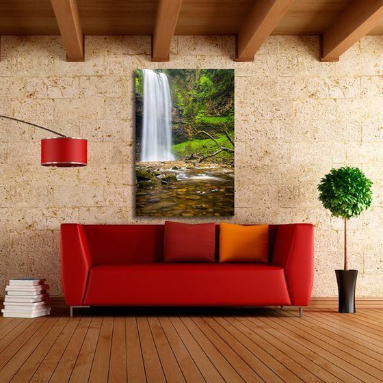 Alluring Clean Waterfalls Wall Art Living Room