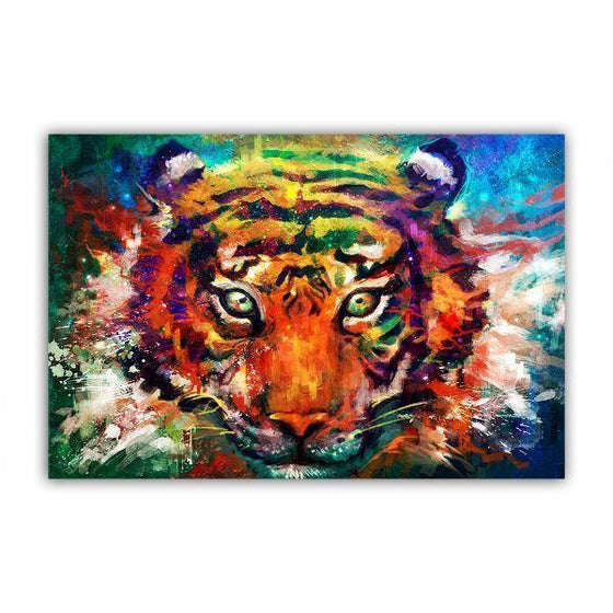 Alluring Colorful Tiger Canvas Wall Art