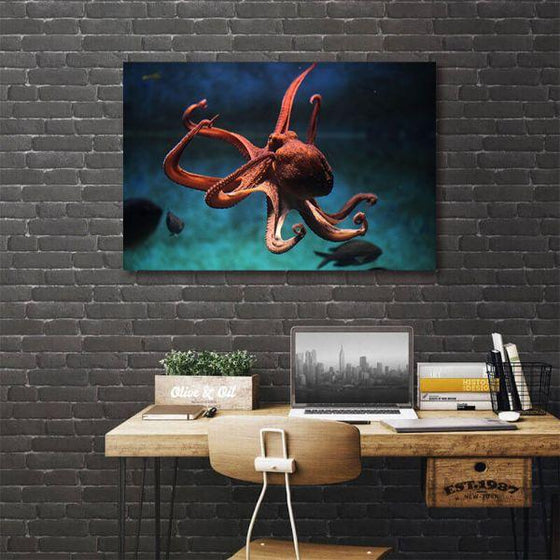 Amazing Octopus 1 Panel Canvas Art