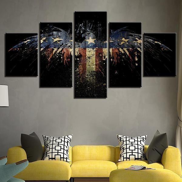 American Eagle Wall Art Canvas