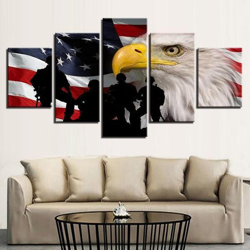 American Flag Wall Art Wood