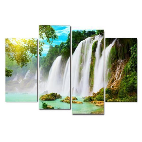 Kutralam Waterfalls Canvas Wall Art