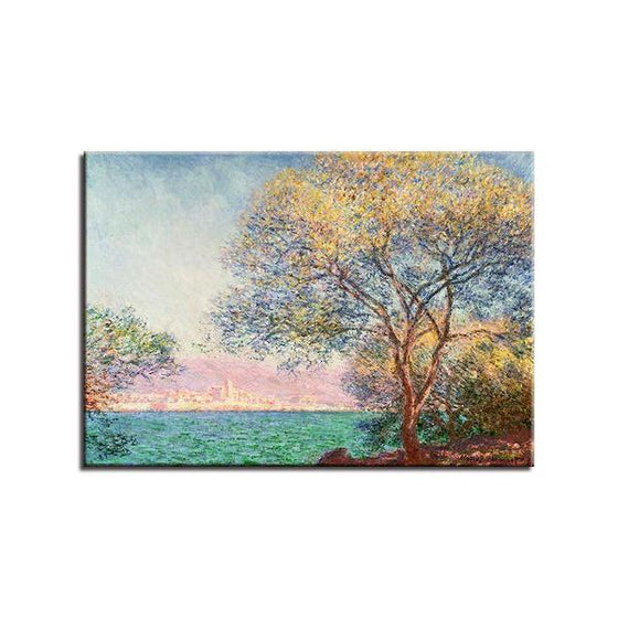 Antibes Morning By Claude Monet Canvas Wall Art