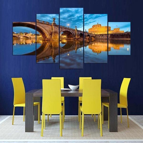 Castel Sant' Angelo Canvas Wall Art Dining Room