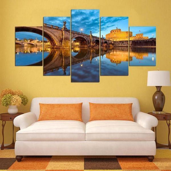 Castel Sant' Angelo Canvas Wall Art Living Room