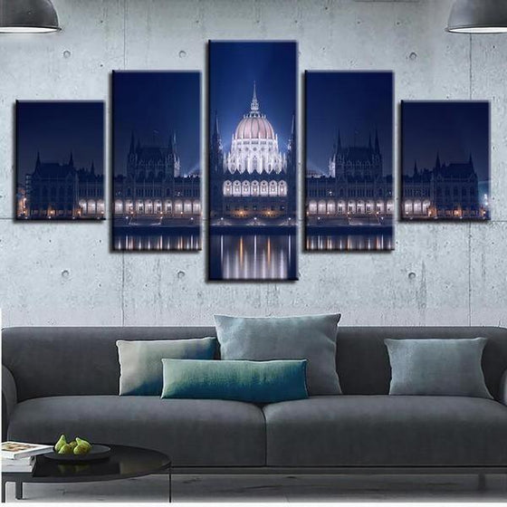 Budapest Parliament Building Canvas Wall Art Living Room