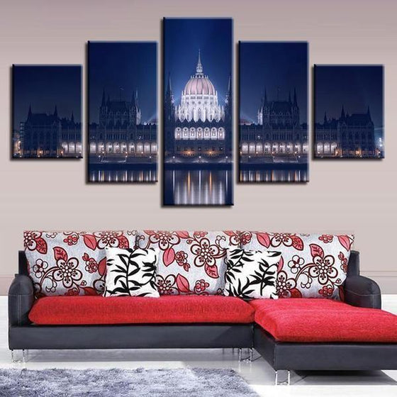 Budapest Parliament Building Canvas Wall Art Living Room Decor