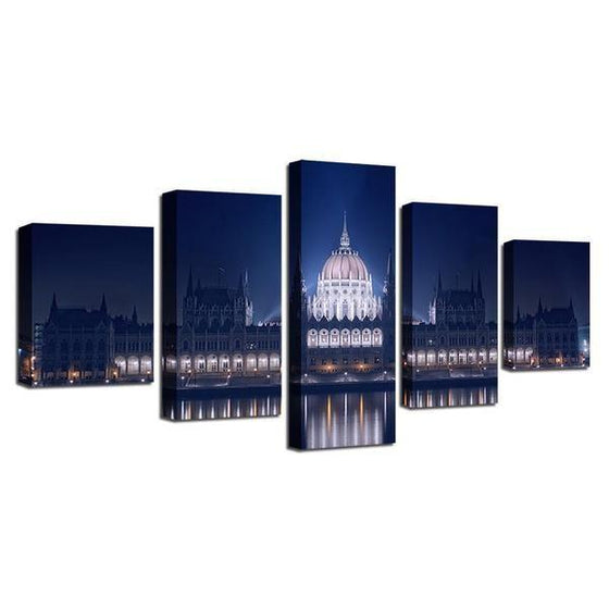 Budapest Parliament Building Canvas Wall Art Prints