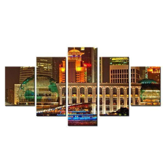 City Night Scene Architecture Canvas Wall Art Prints