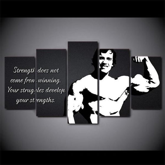 Arnold Schwarzenegger Quote Wall Art Canvas