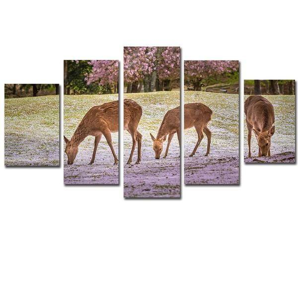 Baby Deer Wall Art Canvas
