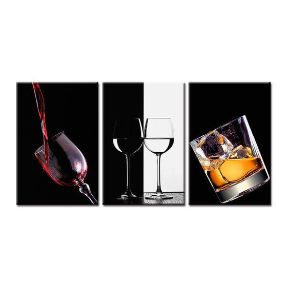 Bar Liquor Drinks Canvas Wall Art