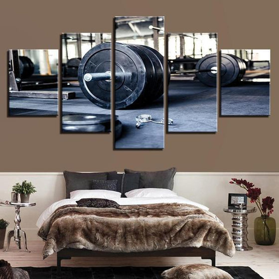 Barbell Wall Art Bedroom