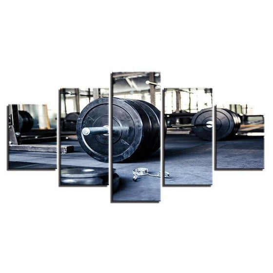 Barbell Wall Art Canvas