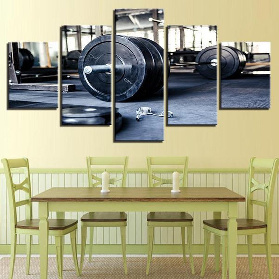 Barbell Wall Art Dining Room