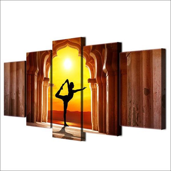 Basic Yoga Pose Wall Art Decor