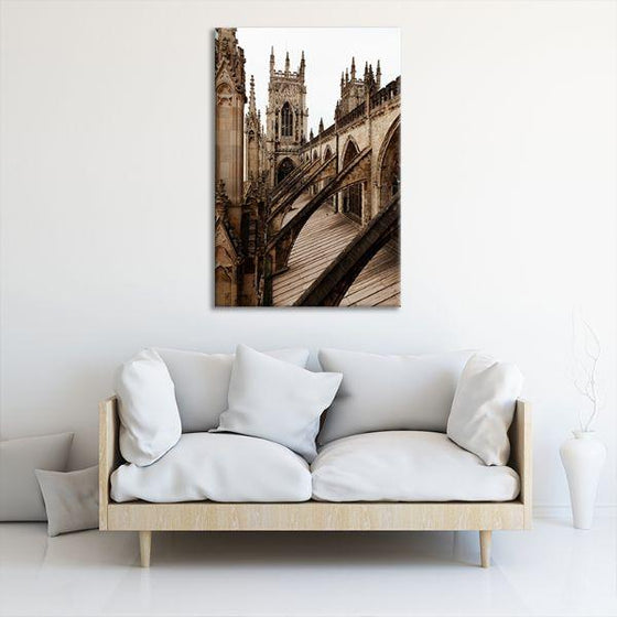 Bath Abbey In England Canvas Wall Art Decor