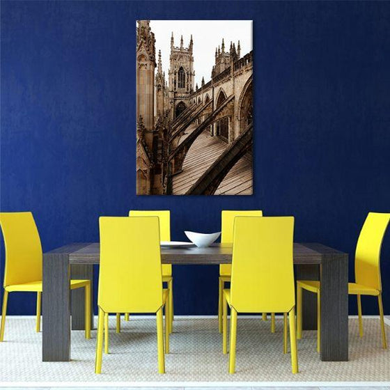 Bath Abbey In England Canvas Wall Art Dining Room